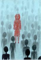 Alone in the crowd by ZeaDith