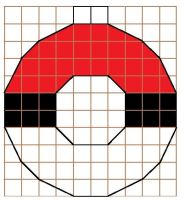 Pokeball Cross Stitch Ornament Pattern by moonprincessluna