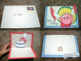 Kirby Birthday Card by LnknPrk7Snoopy