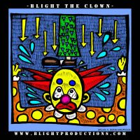 Blight the Clown Drawing 2 by BlightProductions