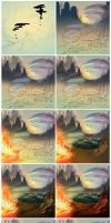 Avatar Aang steps by palnk
