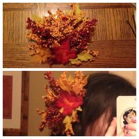 Autumn Fairy WIP | Hair Clip by floweringgarlic