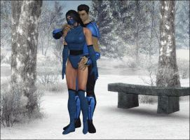 Kitana and Sub Zero 2 by Lady-Lili