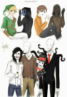 Creepypasta's sketchdump by Pangeon