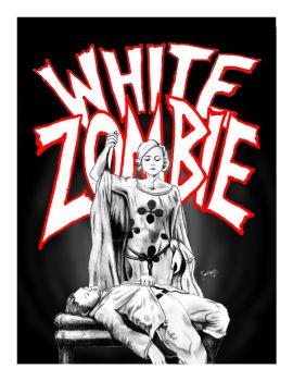 WHITE ZOMBIE! 8x10 by Silentkidsolo