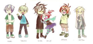 Watercolor Chibi Lineup by Leaglem