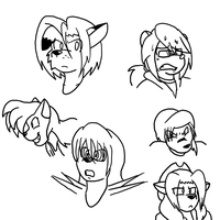 expressions practice 3 by SorcererLance