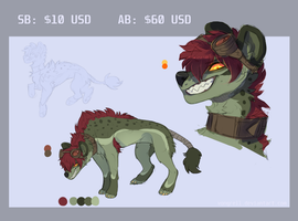 ADOPT Hyena?? Auction [CLOSED] by Vongrell