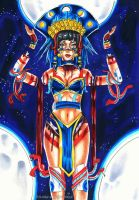 Coyolxauhqui - Goddess of the Moon by Shiranui94