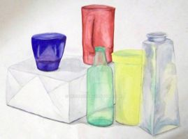 Watercolor Still Life by mizuaoi