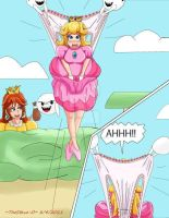 Peach Defeated By Wedgiex-d5jvk2d by DiaperSamantha