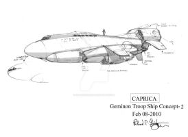 Geminon Troop Ship concept-2 by onthesquare