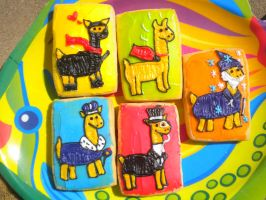 Llama Cookie Group by xenacee