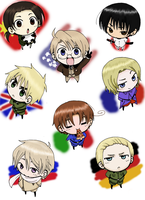 Hetalia Chibis: for HungryHorntail by The-Ghost-Writer