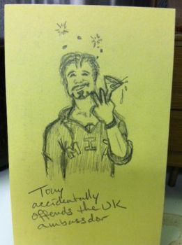 Misadventures of Tony Stark:  Offending the UK by Gretchdragon