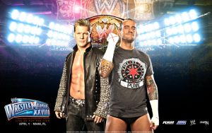 Chris Jericho vs CM Punk WM28 by i-am-71