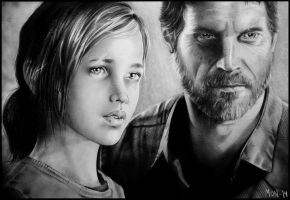 Ellie and Joel from The Last of Us by Sonen89