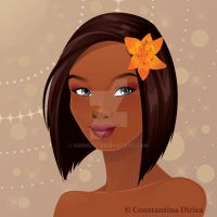 Beautiful African American Woman Portrait by krmn777