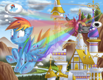 Double Rainbow All the Way 'Cross the Sky by BerryPAWNCH