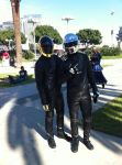 Daft Punk cosplayers by Qrow92