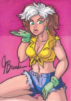 Sketch Card #37 - Rogue Pin-Up by destinyhelix