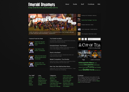 Emerald Dreamers site design by michelledancer