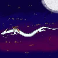 Spirited Away Night Time fly by OutlawWulfy