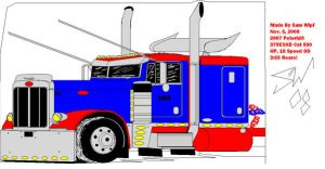 Peterbilt 379 made on ms paint by 18KyBuschfan