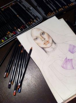 Lady Gaga in progress by brittlisee