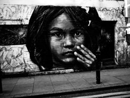 London Girl Graffiti by beckahroo