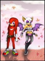 :.Knuckles and Rouge 4 years later:. by Cheezyem