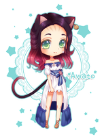 Chibi Commission for whitefflace 2 by Awato