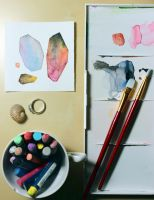 Tiny painting project: 001 - 365 by AirelavArt
