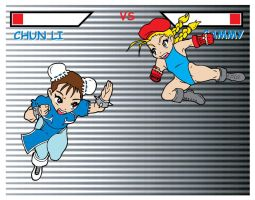 Chun li VS Cammy by Marvsamune