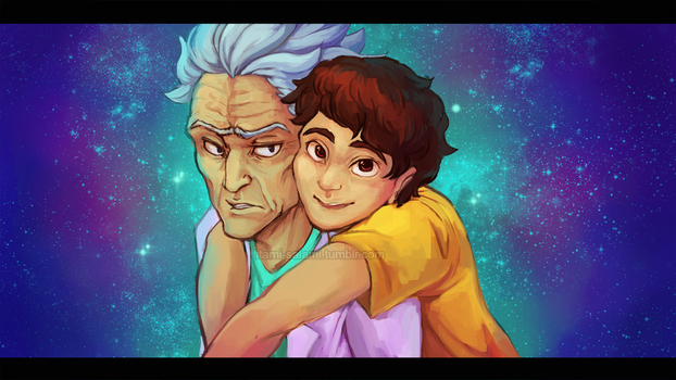 Rick and Morty IN SPACE by itami-salami