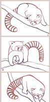 Red Panda Outline ACEOs by ankewehner