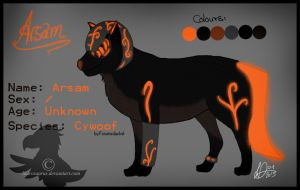 Arsam's reference sheet by Laurosaurus