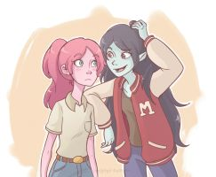 Bonnie and Marceline by JaelynGS