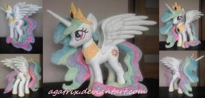 Princess Celestia plush by agatrix