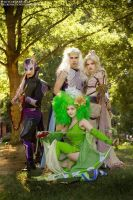 Final Fantasy IV Cosplay Group by christadaelia
