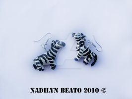 Zebra Earrings by NadilynBeato