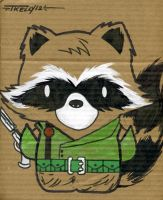 Rocket Raccoon by TomKellyART