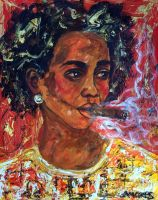 The lady from Santiago de Cuba by amoxes