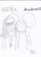 skrillex and deadmau5 by peacmaker101