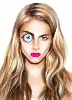 cara delevingne by E-leah