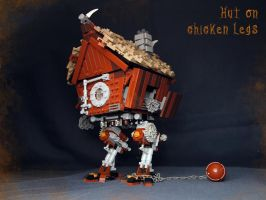 LEGO. Hut on chicken legs in battle position by DwalinF