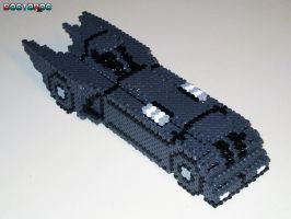 Batmobile 3-D Bead Sprite by DrOctoroc