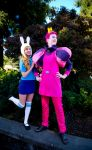 Prince Gumball and Fionna by elitecosplay