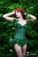 Green Poison Ivy Underbust Corset by TimelessTrends