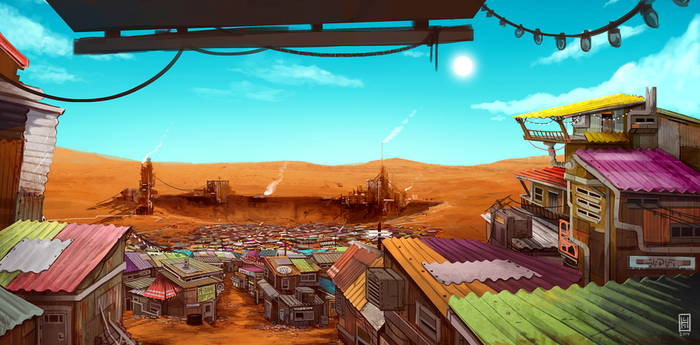 The Outlands - Shantytown by Spikings